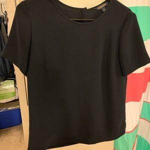 Brooks Brothers navy blue blouse size 4